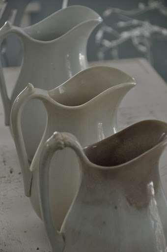ironstone pitchers Like our little white ironstone pitcher mother always served 'milk' in for coffee drinkers. K.W.