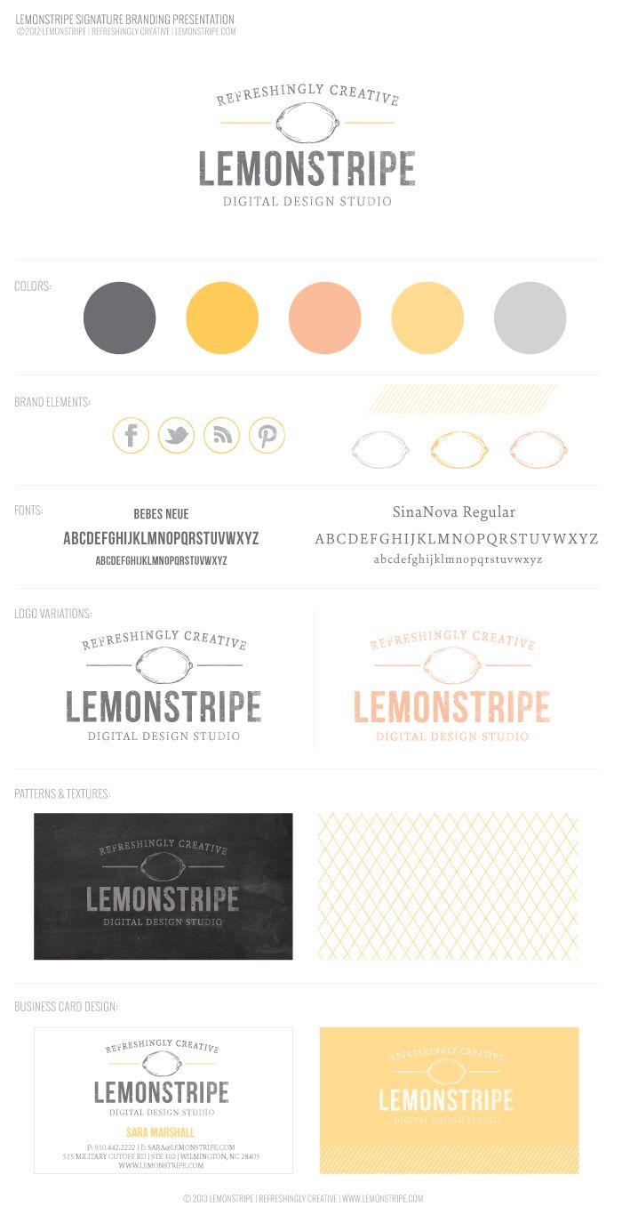 Lemonstripe's New Brand Design! diy blog