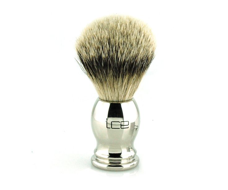 The Ice Chrome Silvertip Badger Brush. Silvertip badger brushes are widely known as the best shaving brush you can possibly get. Hair from the underbelly and neck is used, where it is softest. Available at House of Knives.