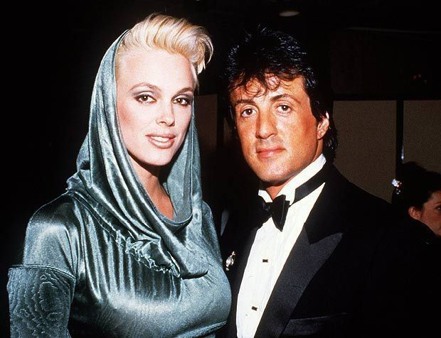 Sylvester Stallone & Brigitte Nielson Then
