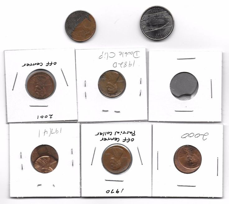 ERROR COIN LOT Nice mix,cud Off centers,Double clip Free Shipping  U.S. Coins