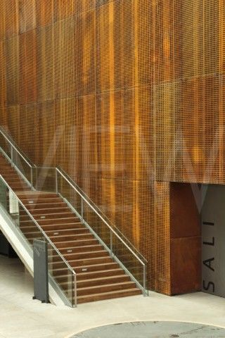 Verkatehdas Arts & Congress Centre JKMM Architects Hämeenlinna Finland 2007 Corten steel interior wall with glass staircase