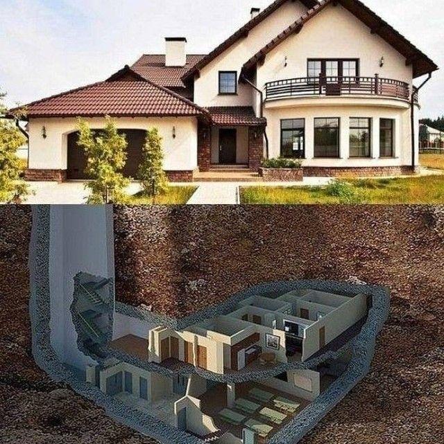 Kalo Pisah Dg Orang Tua Setelah Menikah Tp Masih Mau Bareng Bikin Dibawah Gaes Underground House Plans Underground Homes Luxury House Designs