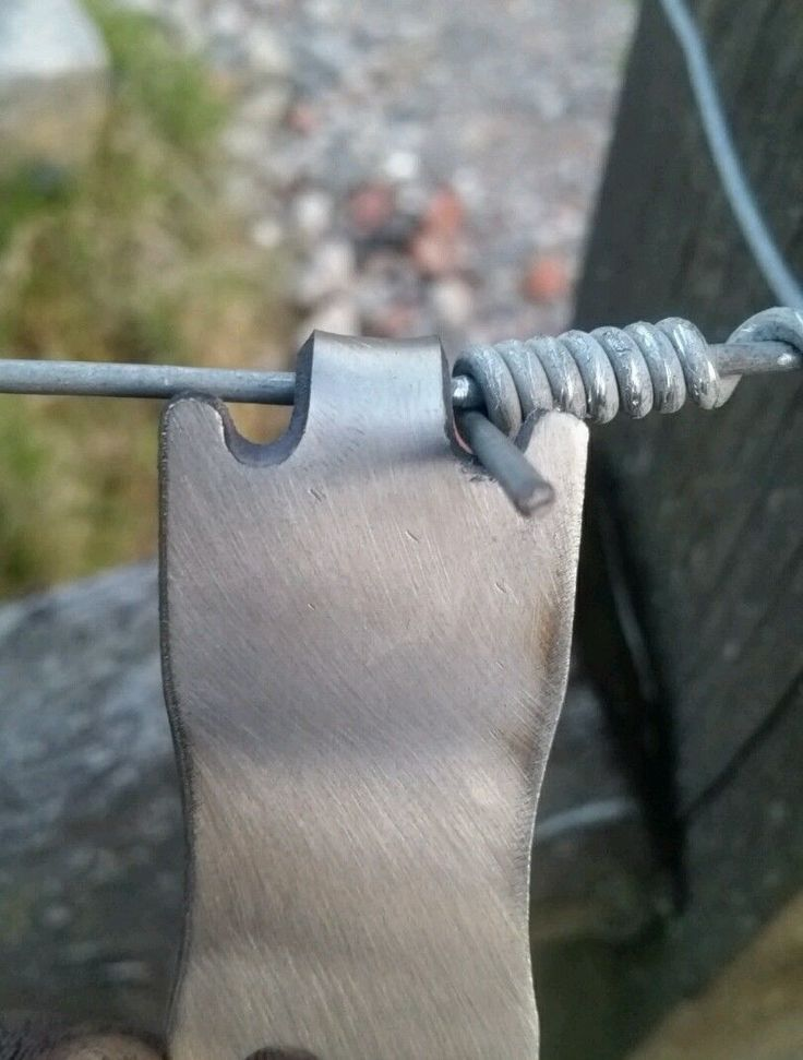Cut from stainless steel on our cnc plasma machine. Has a hole cut into it so can be put onto a keyring. Agrifabs fencing wire twisting tool. Fantastic little tool to help twist the ends of fencing wire. | eBay!