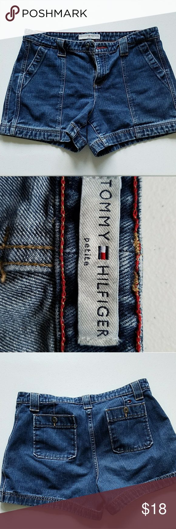 """Tommy Hilfiger denim shorts (12p) Please note: item is a woman's petite   13"""" long in front  13 1/2"""" long in the back   Waistband is 17"""" across Tommy Hilfiger Shorts Jean Shorts"""