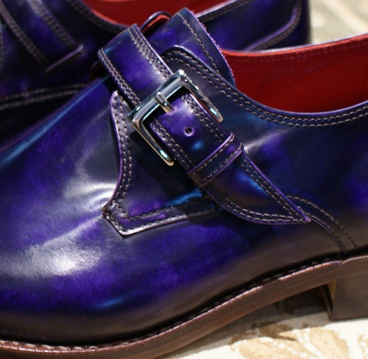 Mens Suede Shoes Italian Flag On The Heel