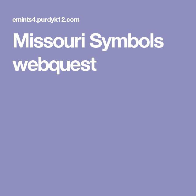 47 best missouri images on pinterest missouri facts and social missouri symbols webquest fandeluxe Gallery