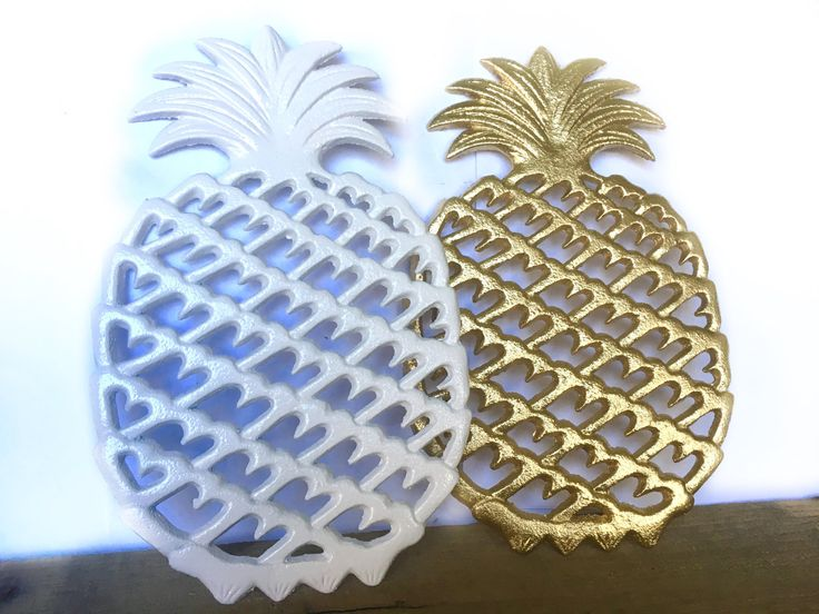 Cast Iron Pineapple Trivet - Gold Pineapple Decor - Pineapple Kitchen Decor - Pineapple Wall Hanging - Modern Kitchen Wall Decor - Cookware by ShineBoxPrimitives on Etsy