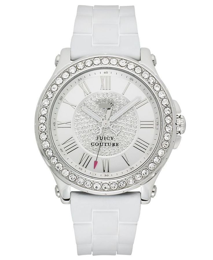 Juicy Couture Watch, Women's Pedigree White Silicone Strap 38mm 1901051