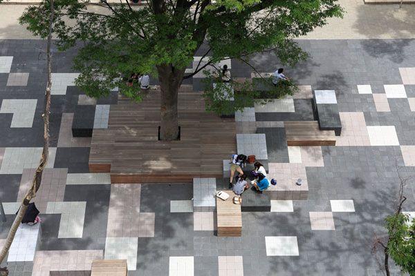 Reinterpreting Nature in Design: Teikyo Heisei University Nakano Campus - Landscape Architects Network