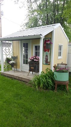 Charming My Backyard She Shed | Garden Houses | Shed Decor, Shed Interior, Garden  Shed Interiors