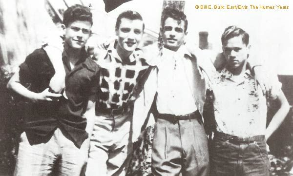 Farley Guy , Elvis , Paul Dougher and Buzzy Forbess , Memphis 1952