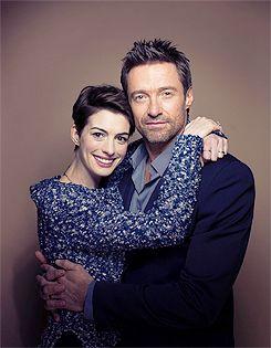 Les Misérables' Golden Globe Award winners Anne Hathaway (Best Supporting Actress) and Hugh Jackman (Best Actor).