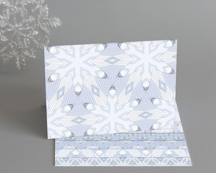 Snowflake Christmas Cards http://www.designedbyruth.co.uk/cards/christmas-cards/snowflake-christmas-cards