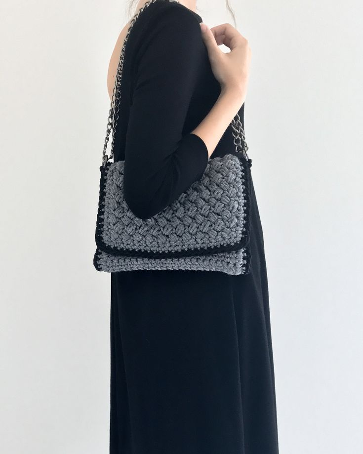 Handmade crochet flap bag . Interior removable pvc pochette. Closes with magnetic clasp. Size: 26x18 Comes in a dust bag  Markella Fili Creations