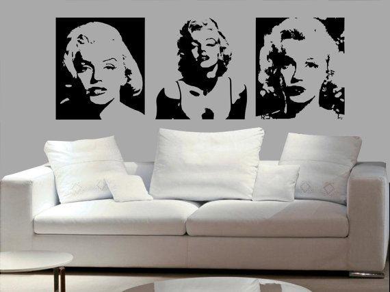 Marilyn Monroe Wall Decal Y Art Vinyl Stickers In 2018 Bedroom Living Room