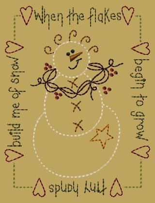 primitive embroidery designs | ... 5x7 - $6.00 : Primitive Keepers, Prim Machine Embroidery Designs