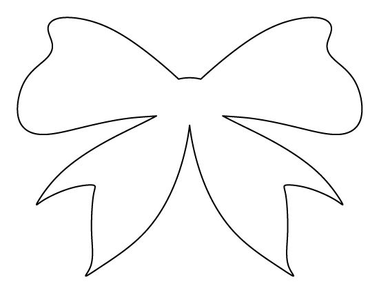 Bow pattern use the printable outline for crafts for Template of a bow
