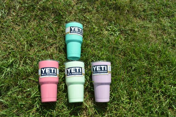 http://www.2uidea.com/category/Yeti-Cup/ Yeti 30oz Color Dipped Seafoam Rambler by SweetPinch on Etsy