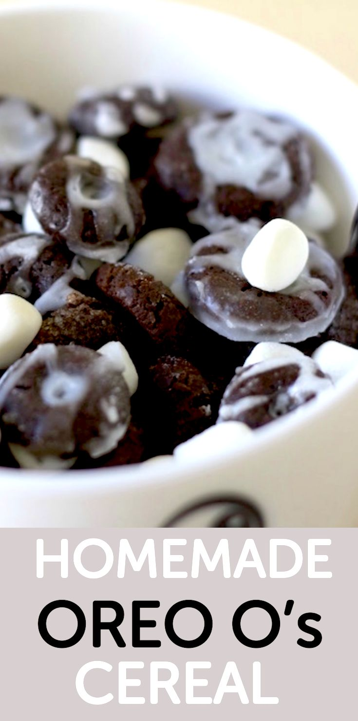 How to make homemade Oreo O's cereal from you childhood.