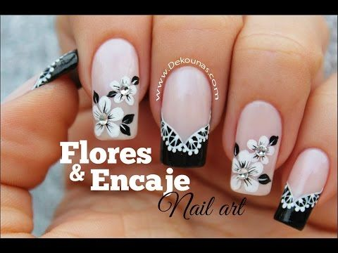 ¡Dibujar FÁCIL Flores en tus Uñas! - The EASIEST Way to Paint Flowers on your Nails!! - YouTube