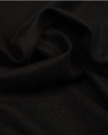 Wool Blend Coating Fabric   Black   Truro Fabrics