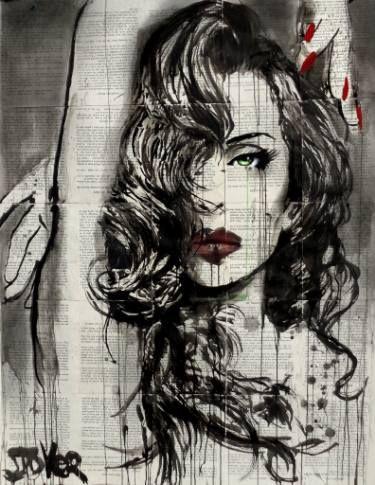 "Saatchi Art Artist Loui Jover; Drawing, ""allure"" #art"