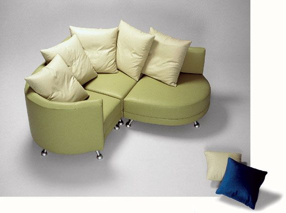 Green Leather Sofa Chair