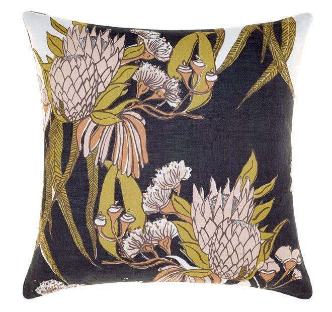 Linen House Naturals Rambler 50x50cm Filled Cushion Charcoal