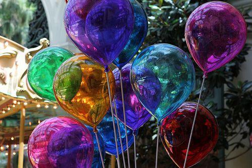 jewel tone plastic balloons