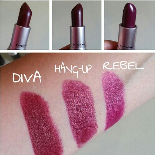Mac Lipstick - Diva, Hang-up, Rebel