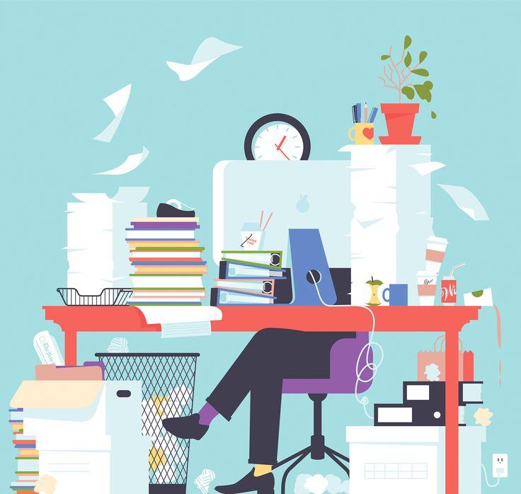 Messy Office Kitchen: L'ironia Minimale Delle Illustrazioni Di Ben Wiseman