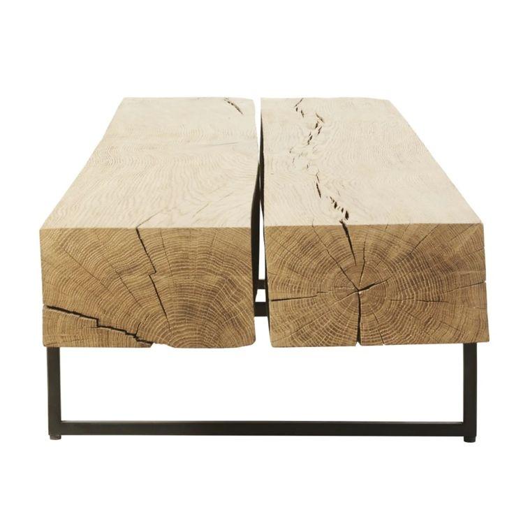 Best Black Metal And Solid Oak Coffee Table Solid Oak Coffee 400 x 300