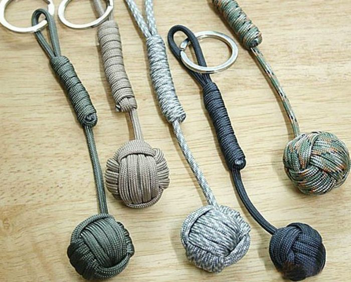 This Paracord Self Defense Keychain looks like a simple harmless keychain. However, if you are attacked, this keychain will stun and maim your attacker.