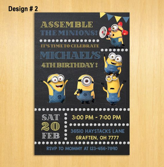 best 25+ minion party invitations ideas on pinterest | minion, Party invitations
