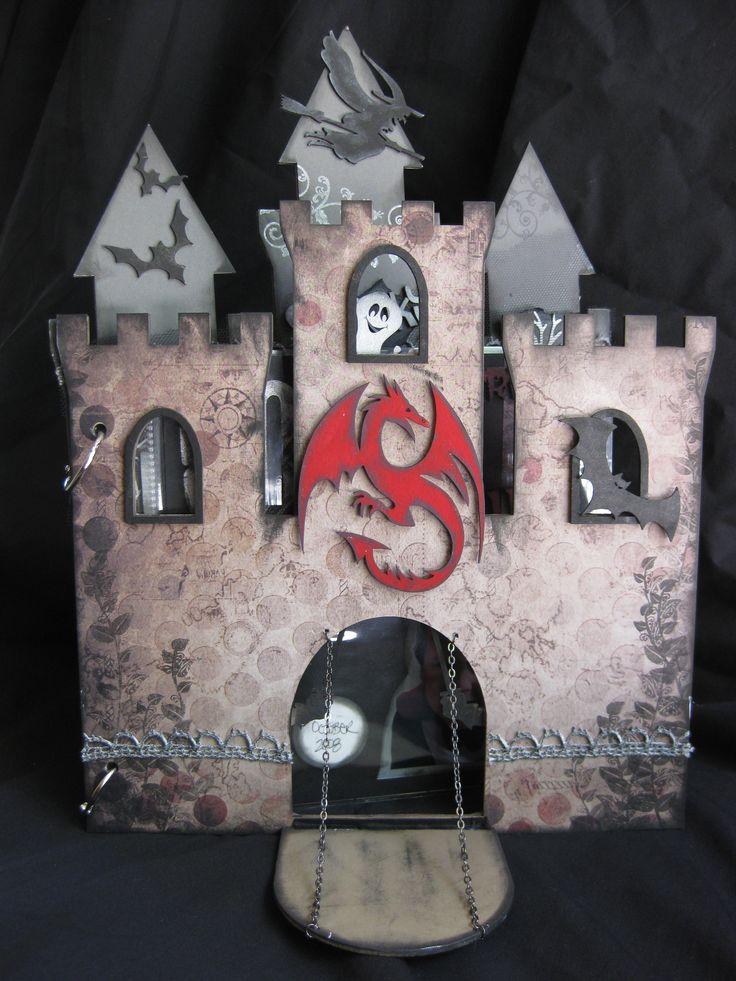 Scrap FX Castle album Halloween Style