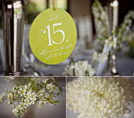 Table numbers can hang from candellabra - Canvas Stationery Boutique