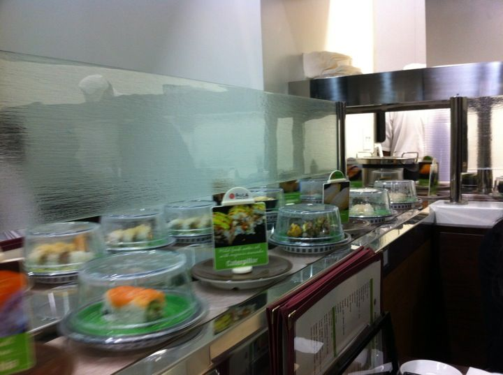 "Kula Revolving Sushi Bar. ""Order"" your sushi from the conveyor belt, how many plates can you finish?"