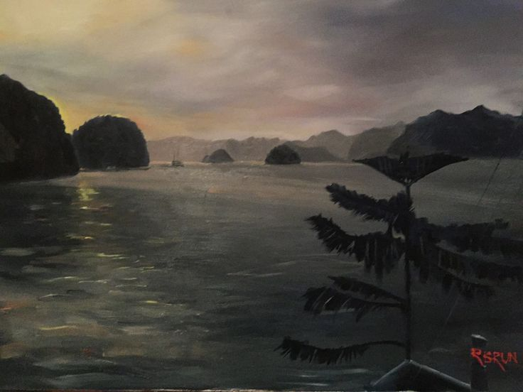 Vietnam early morning oil on canvas Rick Brun