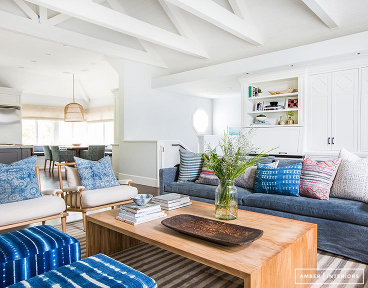 Family Room: Relaxed, cozy, bright, beachy, a little boho, a lot of perfect. Amber Interiors