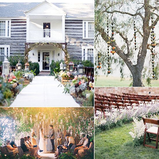 Small Outdoor Wedding Ceremonies | Wedding Ceremony Flower Ideas
