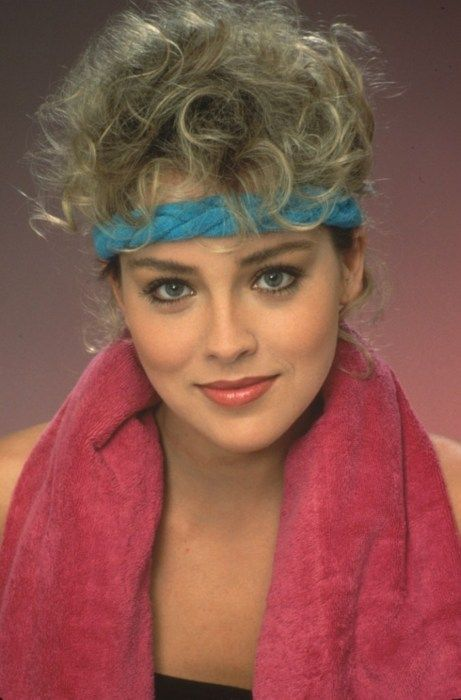 Sharon Stone in fitness outfit 80s