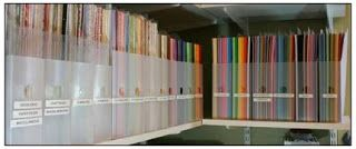 4 great ways to Organize your paper & what works best for us at The Little Blue House! #organization #craftroom