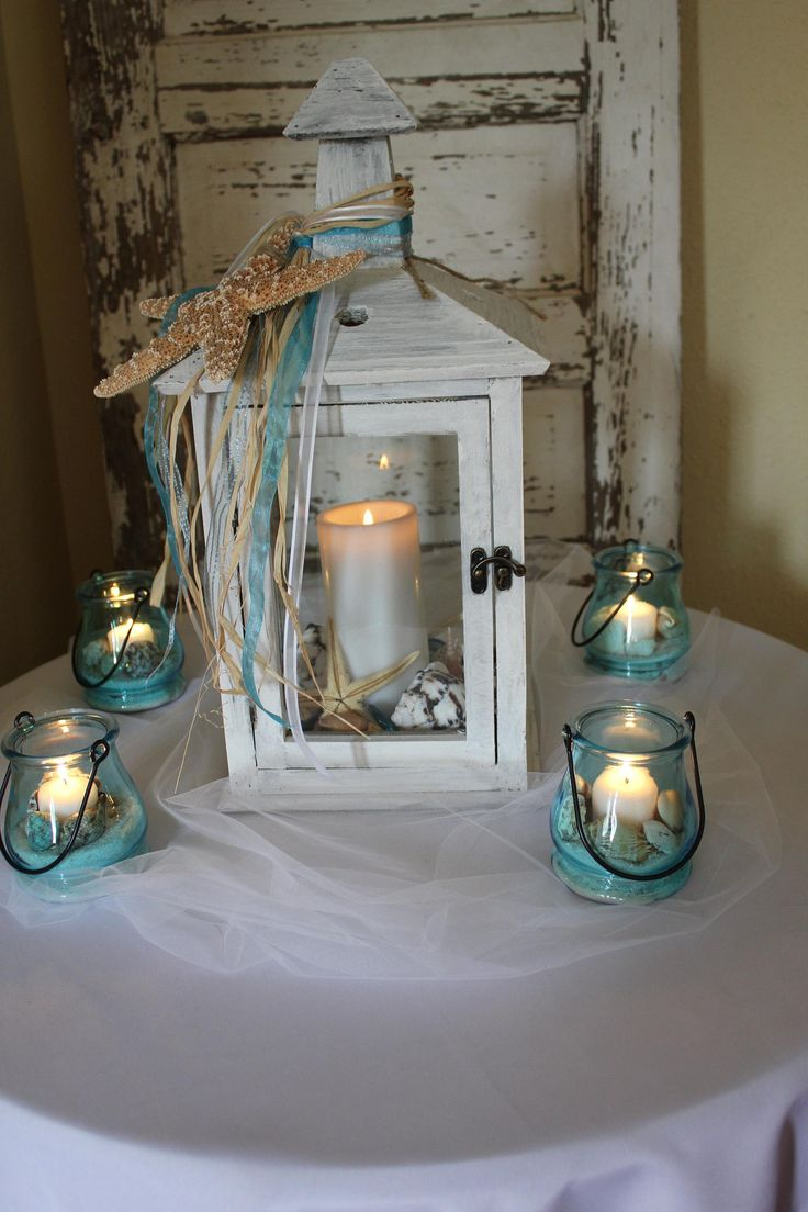 beach wedding centerpieces reception decorations