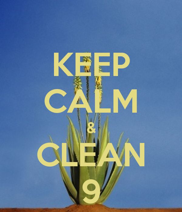 KEEP CALM & CLEAN 9 look good and feel amazing in just 9 days - with this organic detox.Amazing results!