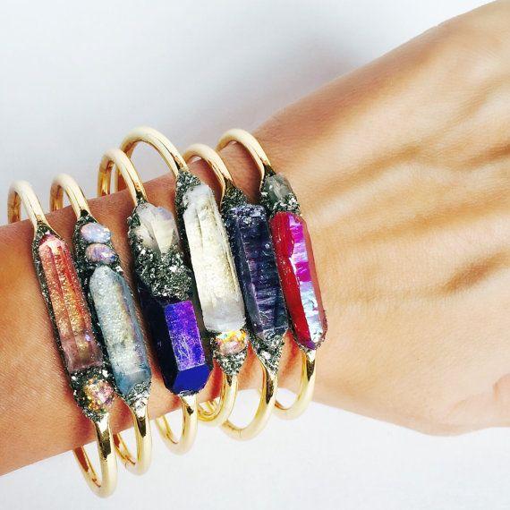 Healing crystal jewelry  Gemstone bracelet  Bracelet by LeaSpirit