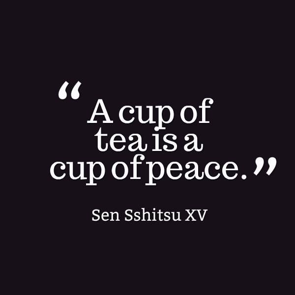 A cup of #tea is a cup of peace.