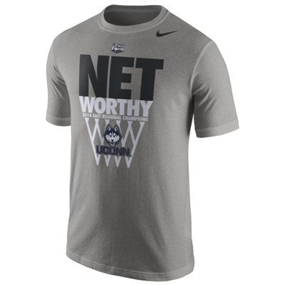 Nike UConn Huskies 2014 Men's Basketball Tournament East Regional Champions Locker Room T-Shirt - Gray