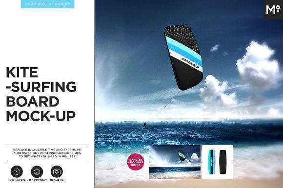 Kitesurfing Mock-up by Mocca2Go/mesmeriseme on @creativemarket
