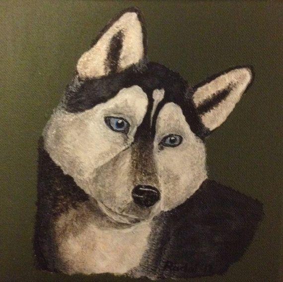 painting  The Siberian Husky von StefanRadoi auf Etsy, €30.00